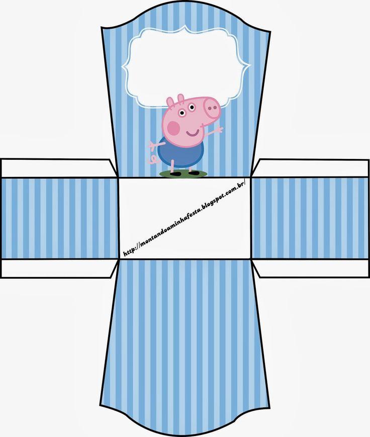Cajas de George Pig para Imprimir Gratis.