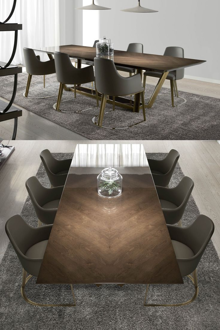 London Collection Designer Veneered Dining Table And Chairs Set