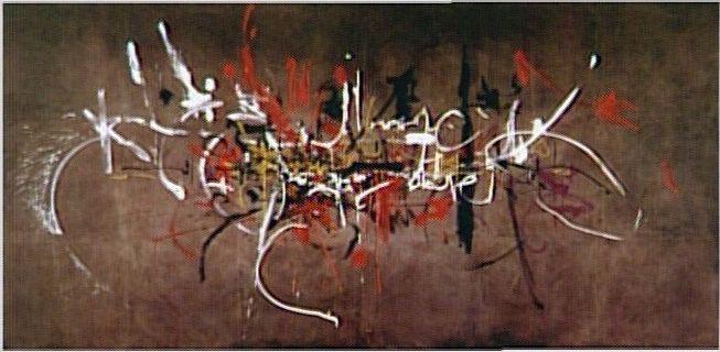 Georges Mathieu (1921 - 2012)  Les Capétiens partout 1954