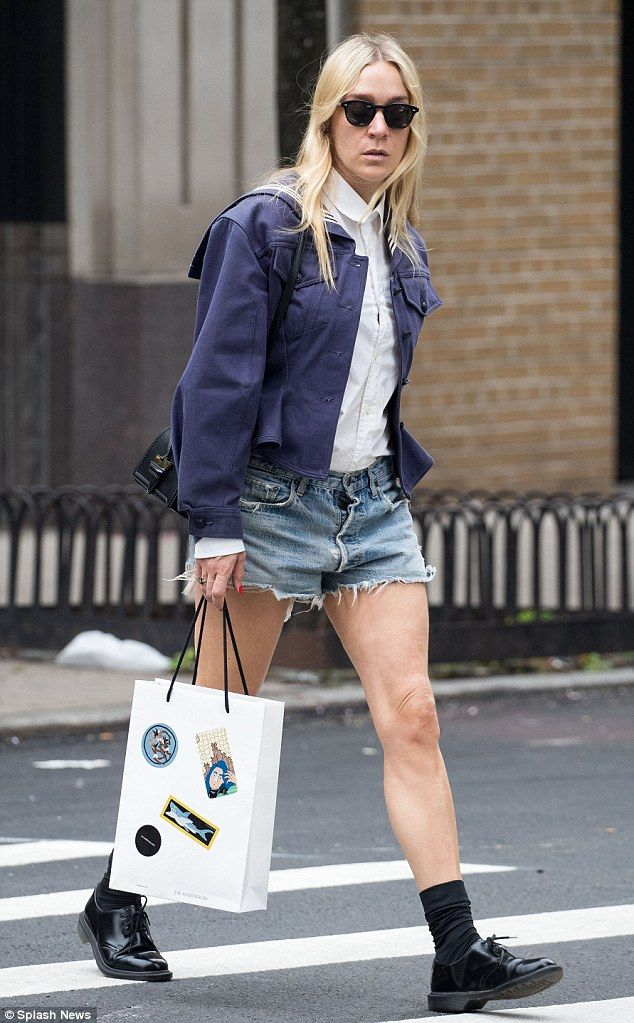 Out and about: Chloe Sevigny rocked Daisy Dukes while on a shopping trip in New York City ...