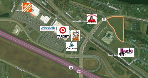 5.02 Acres Commercial Land For Sale! mary@christiansonandco.com | http://candcre.com/sale?city=&query=monticello+land&btnSubmit=Search