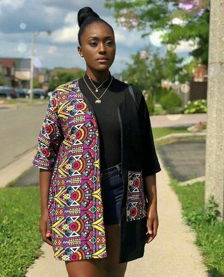 4d12c6d106a Stylish Kimono Ankara Styles 2018