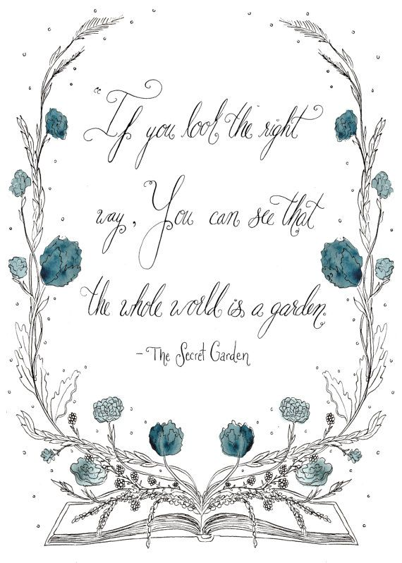Hey, I found this really awesome Etsy listing at https://www.etsy.com/uk/listing/185195893/secret-garden-quote-print