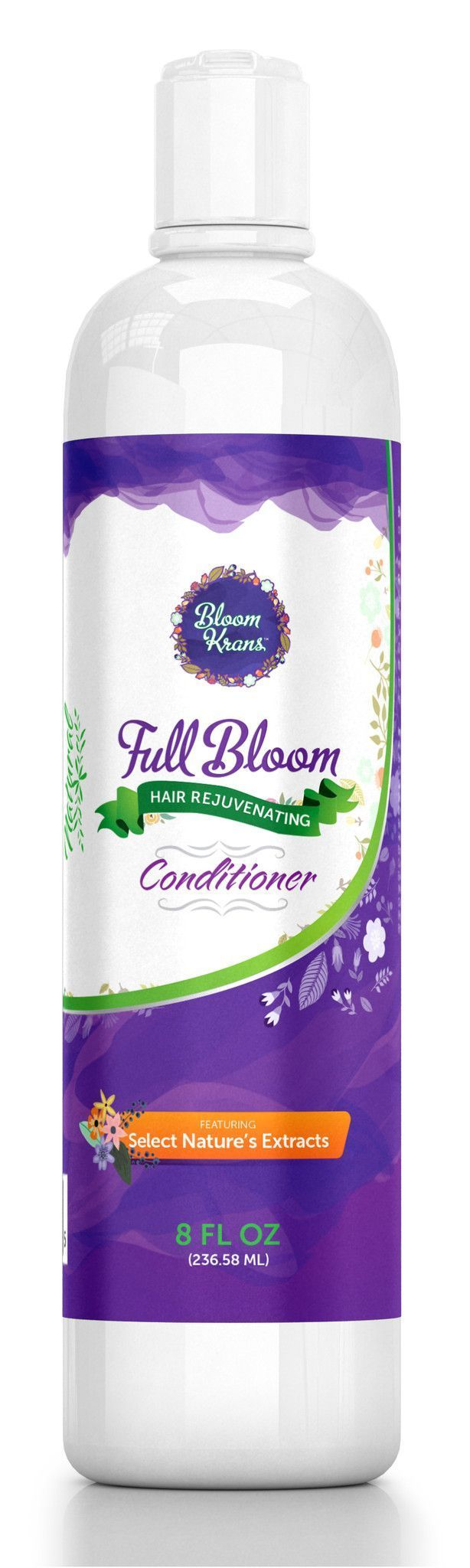 Bloom Krans Full Bloom Hair Loss Conditioner - Hair Growth Conditioner Help- Natural Alopecia Treatment for Women SLS Free Conditioner - Coconut Oil for Hair Growth (Pairs w/ Hair Loss Shampoo & Hair Loss Vitamins)