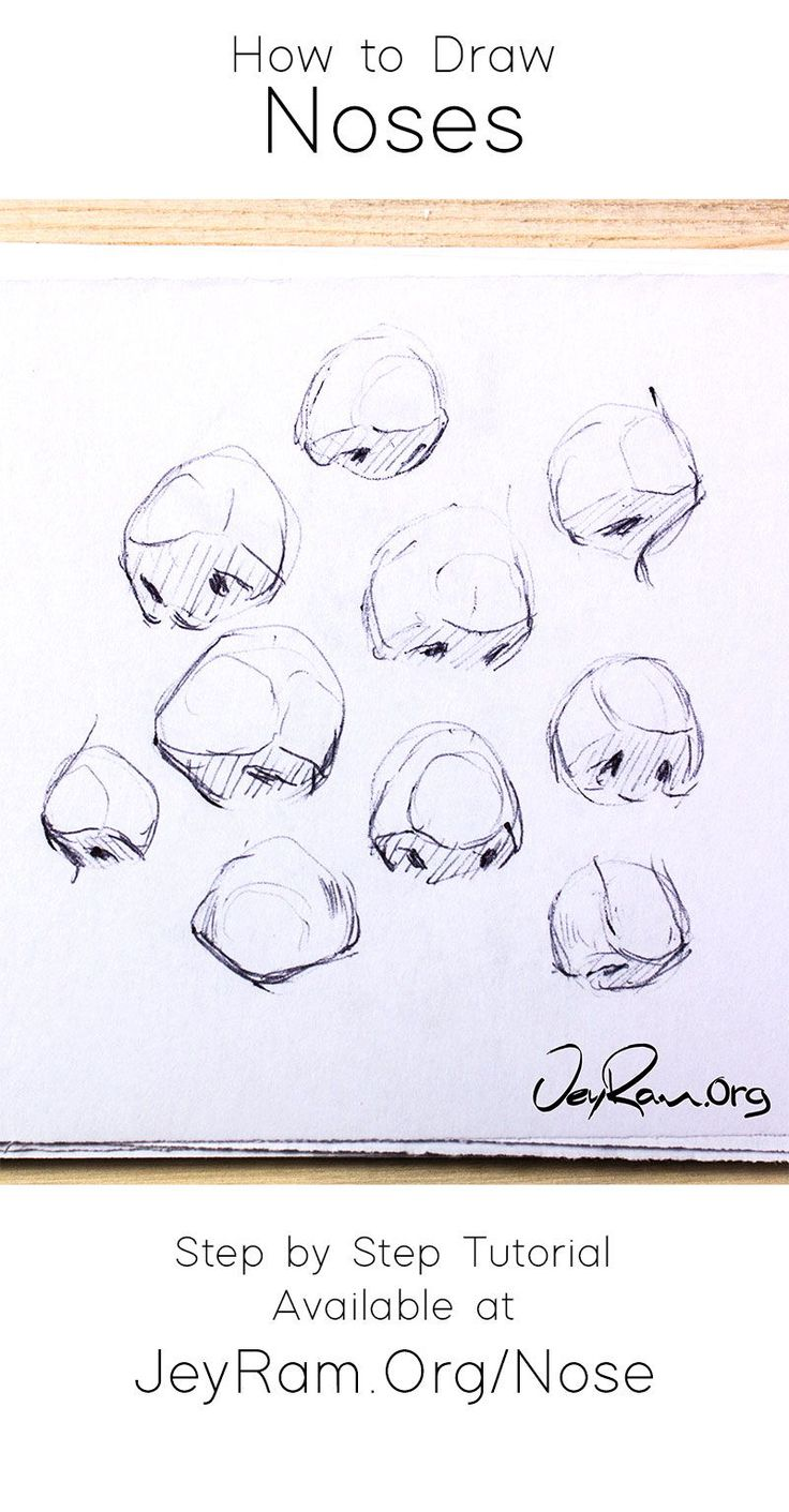 nose draw step drawing beginners noses tutorial simple structure learn drawings