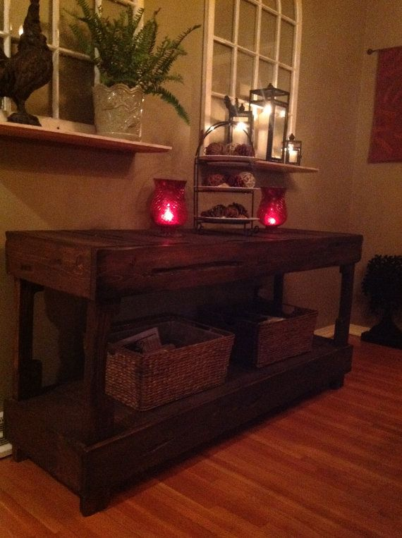 Recycled Wood Buffet Table by DanimeadowsDesign on Etsy, $200.00