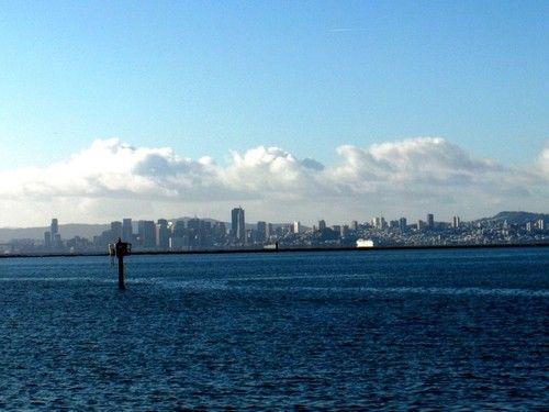 Richmond, CA : View of San Francisco from Craneway Pavillion
