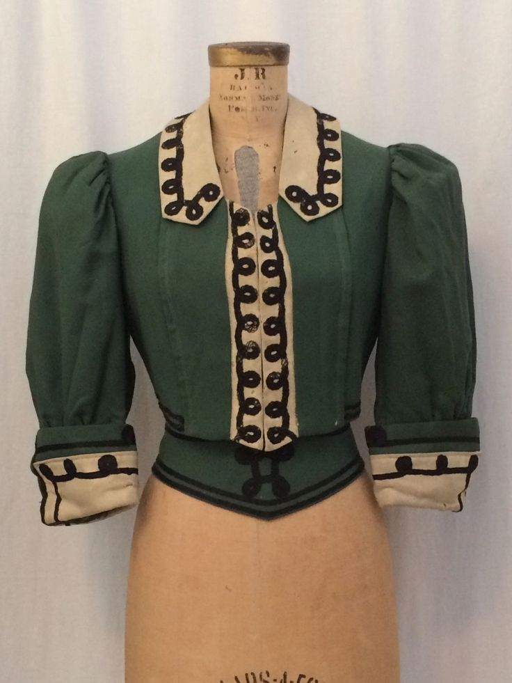 ANTIQUE VICTORIAN EDWARDIAN, WOMENS KELLY GREEN WAIST COAT, MATCHING WAIST BELT | eBay