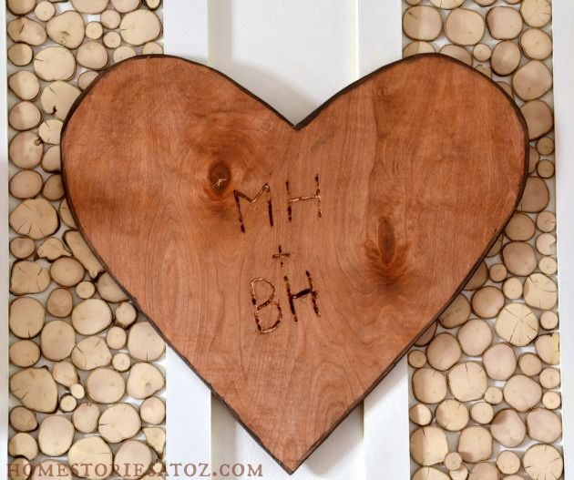 Easy to make if you have a jigsaw! Carved initials Valentine for around the price of a card.