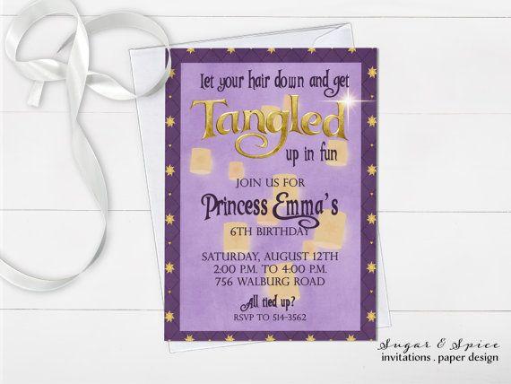 25 Rapunzel invitations Pinterest – Rapunzel Party Invitations