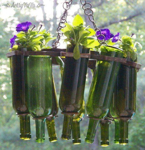 Wine Bottle Hanging Basket | Hometalk