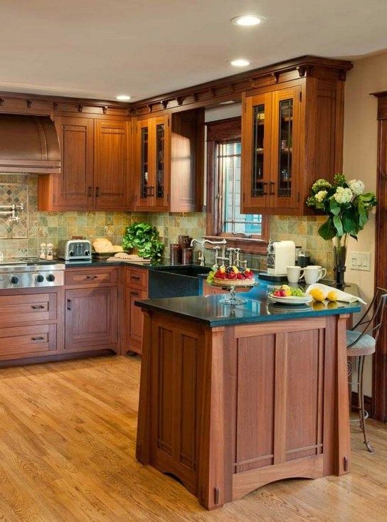 101 awesome craftsman kitchen design ideas 100 for Kitchen cabinets 101