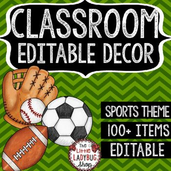 Are you looking for a FUN Sports Theme Class Decor EDITABLE Set? This set…