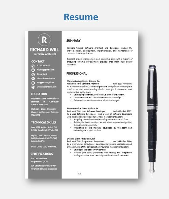 62 best Professional Resume images on Pinterest Off sale, Resume - mac pages resume templates