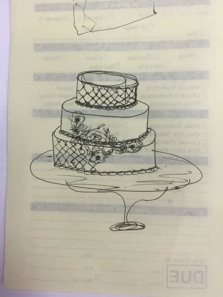 My Rough Draft Drawing Of The Combined Ideas Cake Draft Drawing Pinterest Drawings