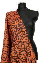 šatovka krep polyester-africké vzory