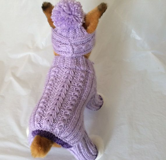 Knitting Dog Clothes : Pet clothes apparel outfit for small dog handmade knit by