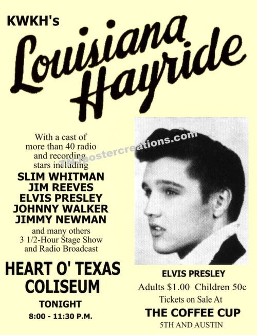 Elvis Presley Performance Poster 1955
