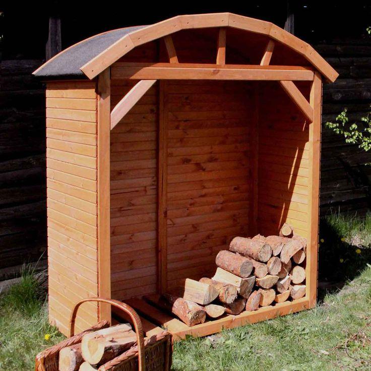 So lässt sich Kaminholz schön und trocken im Garten  Lagern.