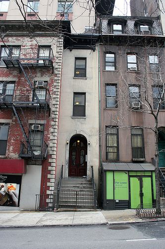 164 East 37th Street in New York, NY, is 1/3 a brownstone, just 10 feet wide.