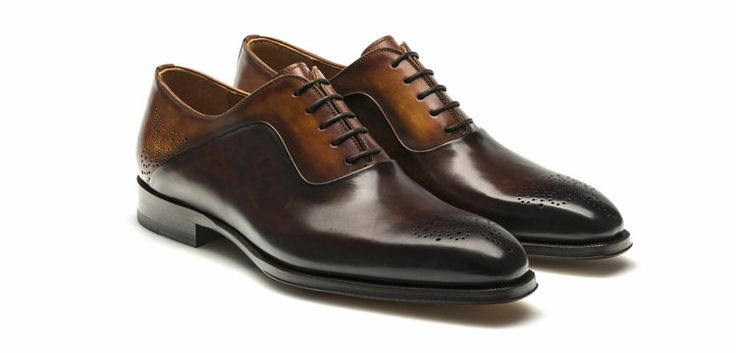 Magnanni Lace-up Oxford Shoes for Men - Patina