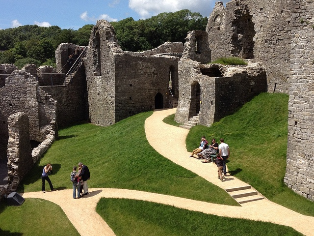 The main courtyard in Oystermouth Castle, Mumbles by home from home, via Flickr