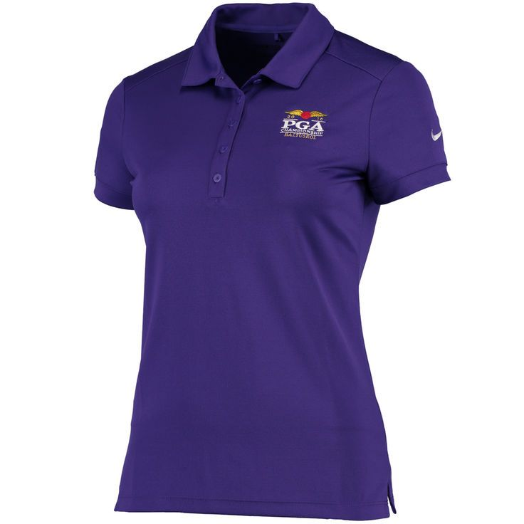 Nike Golf Women's 2016 PGA Championship Victory Solid Performance Polo - Purple - $37.99