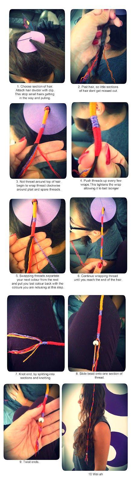 1) Embroidery Thread  2) Hair Divider  3) Scissors  4) Clip  5) Comb
