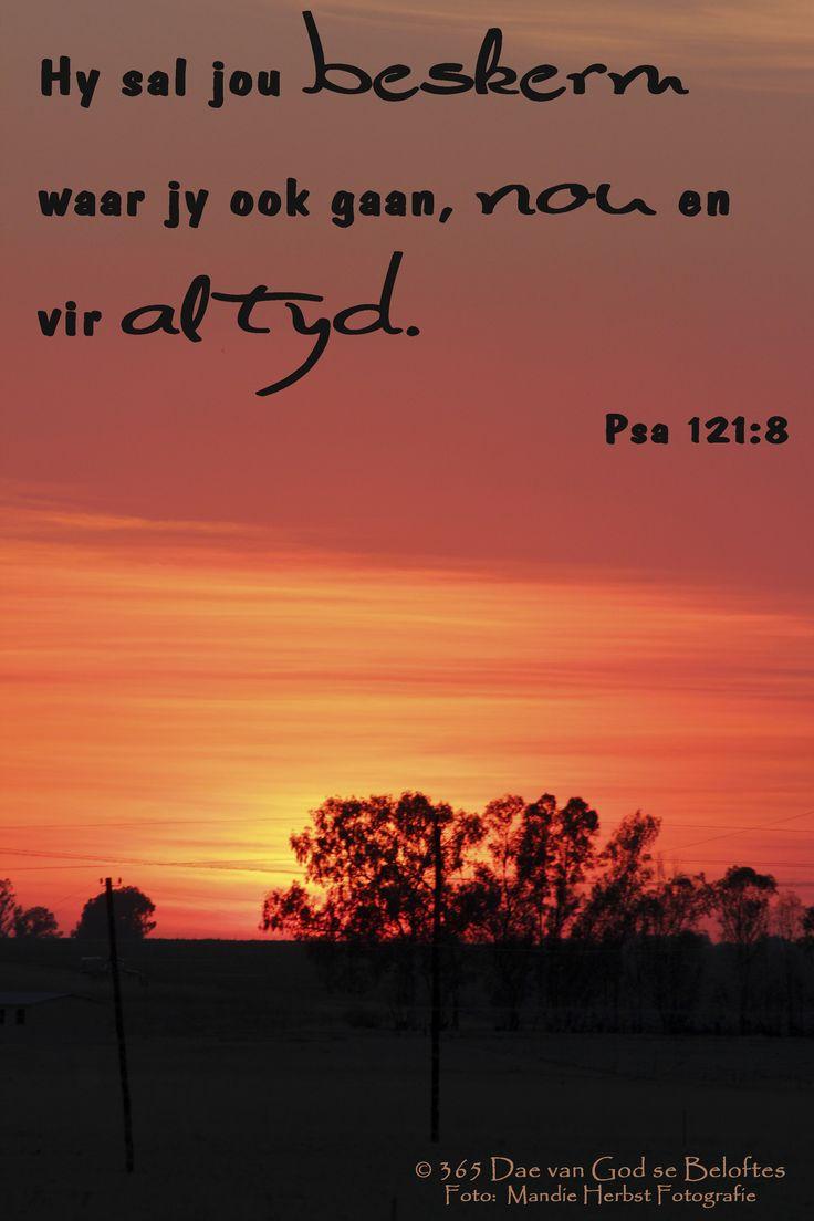 Dag 19 Bybelvers: Psalm 121:7 Die Here sal jou beskerm teen alle gevaar.