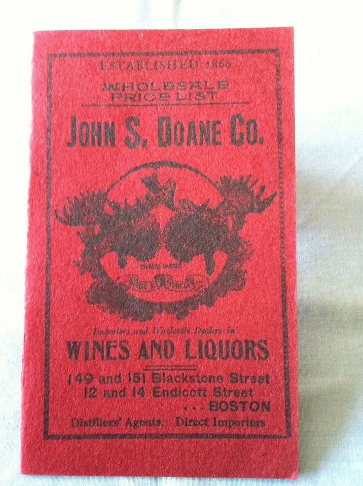 Pre-Prohibition Liquor Price List/Order Form/Envelope c.1900 Exc condition Rare