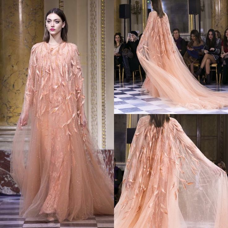 The embrace of a gorgeous couture kaftan. #GEORGESHOBEIKA Couture Spring-Summer 2016. #hautecouture #parisfashionweek #couture #pfw #SS16 #monnaiedeparis
