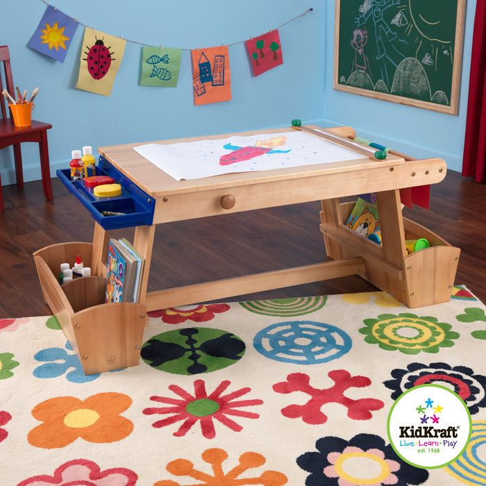 KidKraft Drying Rack and Storage Kids Arts and Crafts Table & Reviews | Wayfair