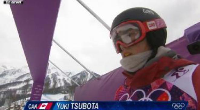 Jeux Olympiques de Sotchi : spectaculaire chute à ski de Yuki Tsubota
