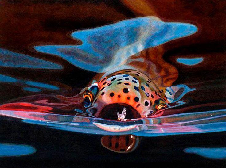 17 best fly fishing art images on pinterest fish art for Fly fishing art