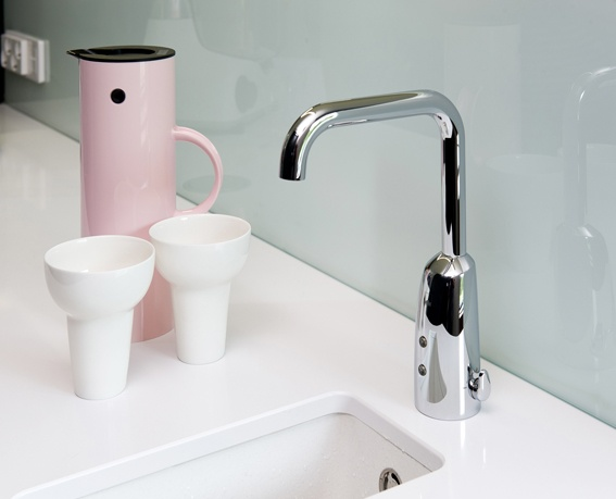 Oras Electra 6331F - suitable also for kitchen. Nice, easy and hygienic!