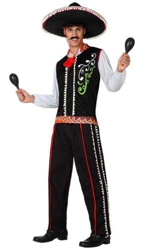 Mexicaans kostuum voor mannen. Zwart Mexico kostuum voor heren, exclusief accessoires. Carnavalskleding 2015 #carnaval