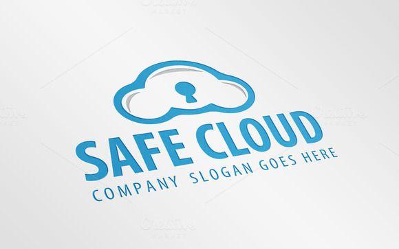 Safe Cloud Logo Template by JigsawLab on Creative Market