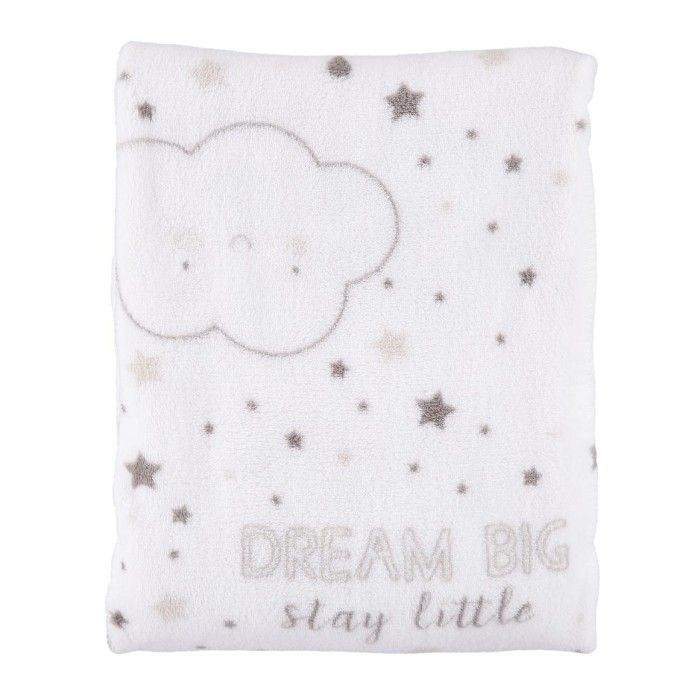 Extra Length Clouds Coral Fleece Blanket