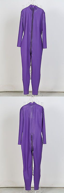 Other Unisex Adult Clothing 155197: Free Shipping In Stock Men Size S Purple Latex Catsuit Rubber Zentai -> BUY IT NOW ONLY: $50 on eBay!