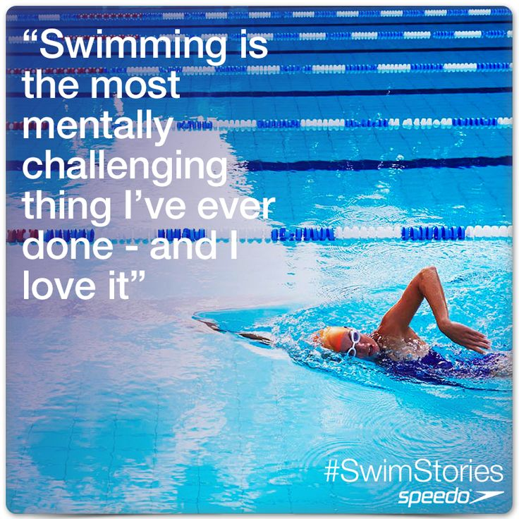 """Swimming is the most mentally challenging thing i've ever done - and I love it"""