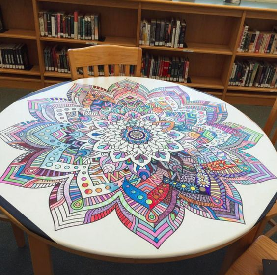 The Library Voice: Community Coloring & Creating.....It's All The Rage In Libraries, Schools & Homes!: