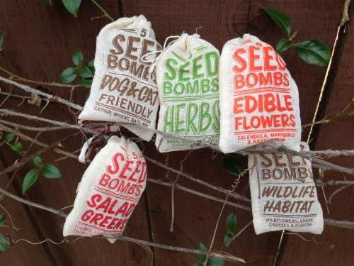 5pk of Organic Seed Bomb Bags -- Find out more details by clicking the image : Garden Seeds