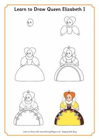 Learn To Draw Queen Elizabeth I Tudors Elizabeth I Queen