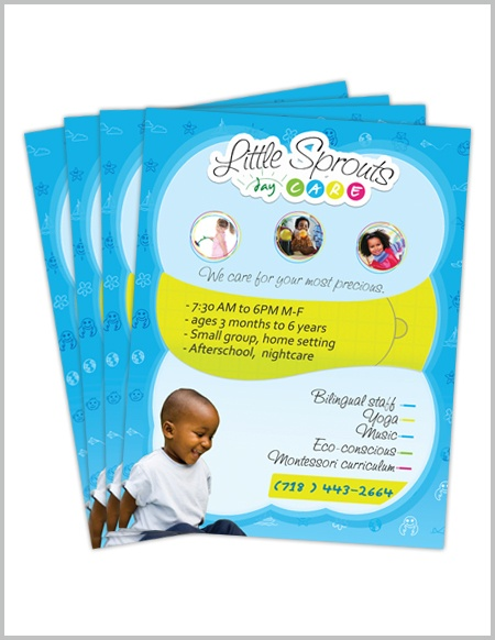 Daycare Flyers (Little Sprouts) by Patrick Romuald, via Behance