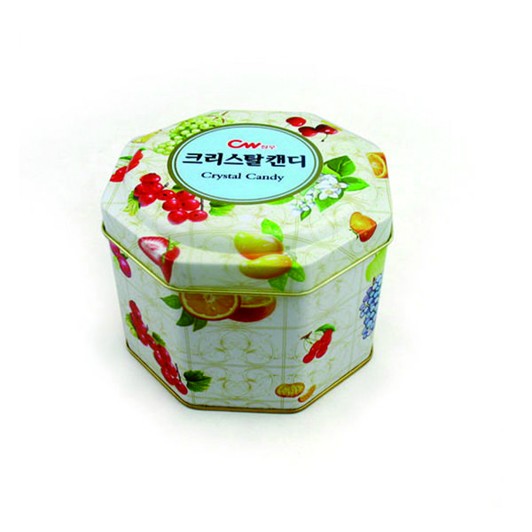 This custom octagonal candy tin container is particularly indicate. It's suitable for packing candy, chocolate and so on. Custom printing makes this candy tin stand out as unique and branded. It's very attractive.