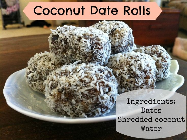 Coconut Date Rolls / http://www.healyrealfoodvegetarian.com/coconut-date-rolls/