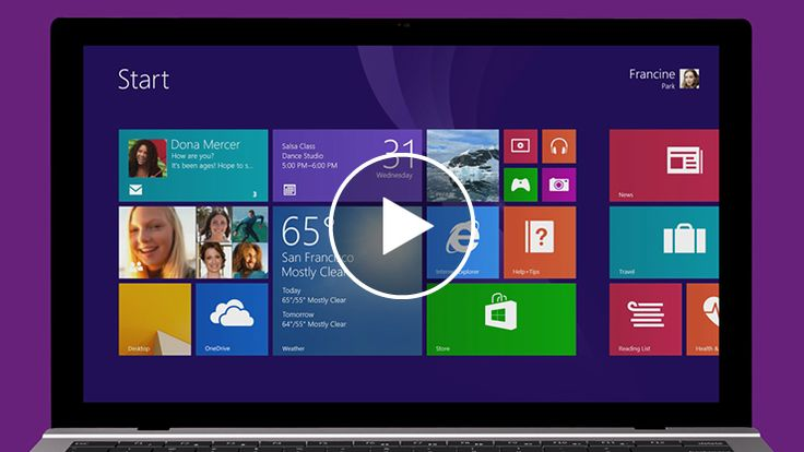 Start screen - Windows tutorial