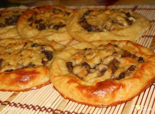 Картофельные ватрушки с грибами