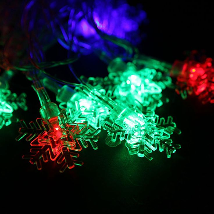 Christmas Snowflake Lights 10M LED String Lights Indoor And Outdoor  Decorative Lights Fairy Lights Guirlande Lumineuse