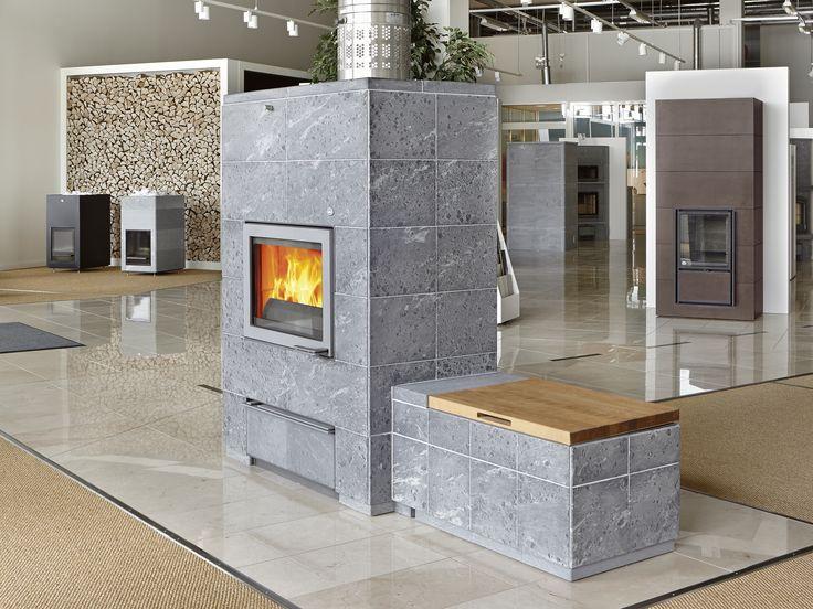 Tulikivi studio at Tammisto has plenty of fireplaces, saunastoves and interior stones.